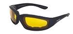 Maxx Foam Motorcycle Sunglasses Yellow Lenses