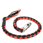 50 Inch Motorcycle Get back Whip Black Orange