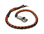36 Inch Motorcycle Get back Whip Black Orange