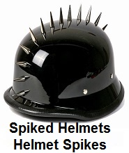 spike motorcycle helmets spikes