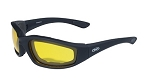 Kickback Motorcycle Sunglasses Yellow Lenses