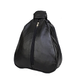 Womens Black Backpack With Center Zipper