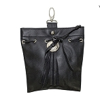 Womens Leather Belt Bag with Clip
