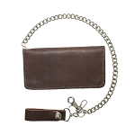 Heavy Duty Brown Leather Chain Wallet