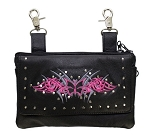 Hot Pink Hip Bag with Butterfly and Studs