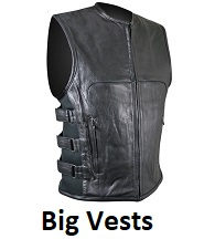 big mens biker vests