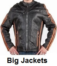 big mens motorcycle jackets