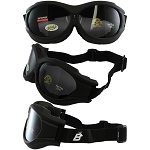 Fit Over Glasses Smoke Biker Goggles