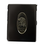 Metal Cigarette Case Belt Buckle with Eagle