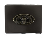 Skull Guns Metal Cigarette Case Belt Buckle