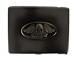 Flying Skull Metal Cigarette Case Belt Buckle