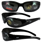 Motorcycle Sunglasses Foam Padded Smoke Lenses