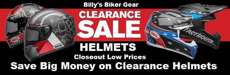 closeout clearance motorcycle helmets billys biker gear