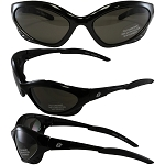 Motorcycle Sunglasses Smoke Lenses Crow
