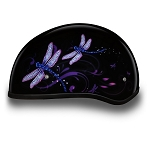 DOT Motorcycle Half Helmet with Dragonfly