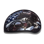 DOT US Flag Motorcycle Half Helmet with Bald Eagle