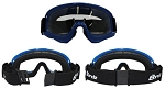 Blue Motorcycle Motocross Goggles Clear Lenses