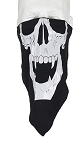 Skull with Fangs Biker Cotton Face Mask