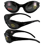 Sport Wrap Motorcycle Sunglasses Smoke Lenses