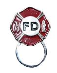 Biker Sunglasses Holder Lapel Pin Fire Department