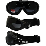 Fit Over Vented Motorcycle Goggles Smoke Lens