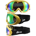 Yellow Frame Goggles Rainbow Mirror Lens