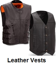biker leather vests