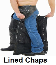 insulated leather biker chaps