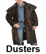 mens leather duster