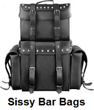 motorcycle sissy bar bags