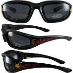 Biker Sunglasses Smoke Lenses with Flames