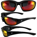 Motorcycle Sunglasses Red Mirror Lenses