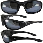 Motorcycle Sunglasses Silver Mirror Lenses