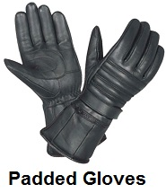 padded biker gloves
