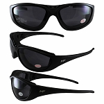 3 in 1 Motorcycle Sunglasses Goggles Smoke Lenses