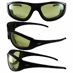3 in 1 Motorcycle Sunglasses Goggles Yellow Lenses