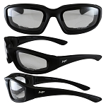 Universal Fit Motorcycle Sunglasses Clear Lenses