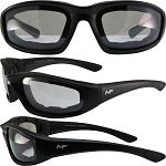 Universal Fit Motorcycle Sunglasses Clear Mirror Lenses