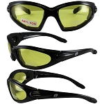 Motorcycle Sunglasses Yellow Lenses Quail