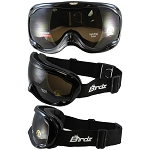 Fit Over Biker Goggles Black Frame Amber Lens