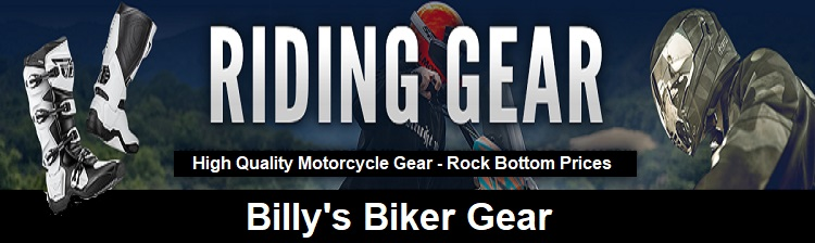 motorcycle riding gear Billys Biker Gear