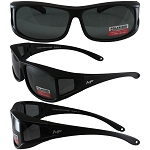 Sideshow Fit Over Motorcycle Sunglasses Polarized Lenses