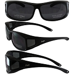 Sideshow Fit Over Motorcycle Sunglasses Smoke Lenses