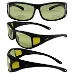 Sideshow Fit Over Motorcycle Sunglasses Yellow Lenses