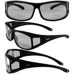 Sideshow Fit Over Motorcycle Sunglasses Clear Lenses