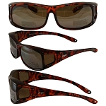 Sideshow Fit Over Motorcycle Sunglasses Tortoise Frames