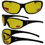 Motorcycle Sunglasses 1.0 Bifocal Yellow Lenses