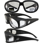 Fit Over Glasses Smoke Biker Sunglasses
