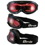 Snow Goggles Rose Mirror Lens Black Frame