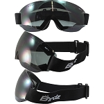 Padded Motorcycle Goggles Smoke Lens